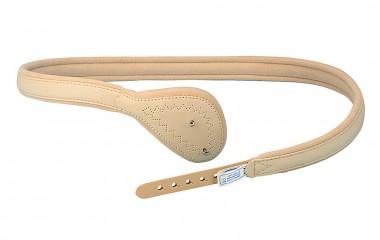Wattierungs-Bruchband mit langer Feder und flacher dreieckiger Pelotte 451/80L