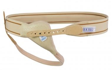 Gummigurt-Bruchband mit 3/4 Feder und anatomischer Pelotte 15371/82L