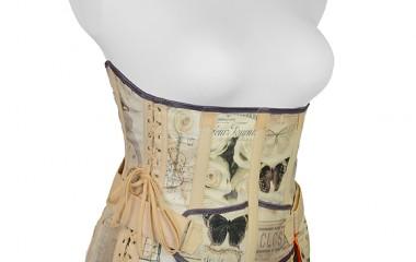 Lower back support girdle in vintage design