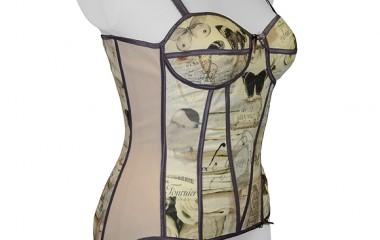 Torso support girdle in vintage design